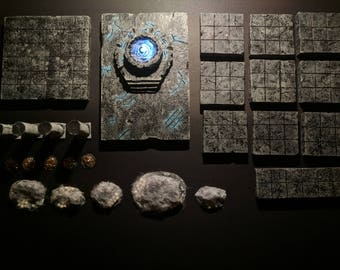 Dungeon Kit for D&D Tiles and Accessories, Tabletop RPG, Terrain, 28mm Accessories, Frostgrave, Warhammer, DnD Scenery, Pathfinder, Scatter