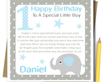 First birthday card etsy personalised boys 1st birthday card first birthday card for brother godson son grandson nephew bookmarktalkfo Choice Image