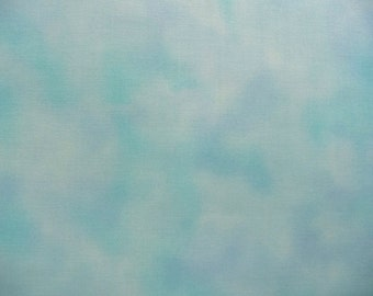 Light Blue Sky Fabric, Fabric Freedom FAFH50 26 Perfect Palette, Sky Landscape Quilt Fabric, Cotton