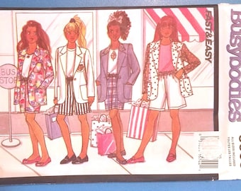 Butterick Busybodies 6668 - Girls Jacket, Skirt, and Shorts Pattern - Sizes 7 to 14