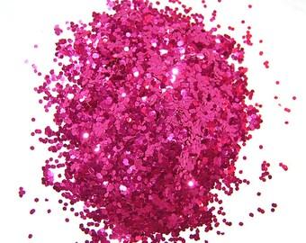 Crimson Glitter, SOLVENT RESISTANT, GLITTER, 0.04 Hex, Nail Art, Craft Glitter, Nail Polish Glitter, Slime Glitter, Crimson, Nail Glitter