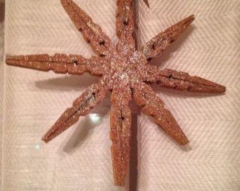 Primitive snowflake ornaments... Vintage inspired.... Set of 6