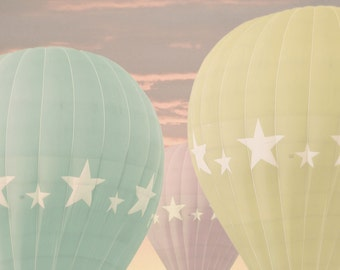 "8x10 photograph - "" Delicious Dreams"" -  fine art print - pastel hot air balloons - children's art - nursery room"