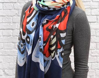 Personalised Abstract Butterfly Scarf (HBS19)