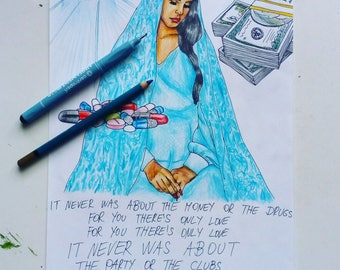 Lana Del Rey - Religion drawing