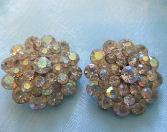 Sparkle and Shine Rhinestone Clip on Earrings