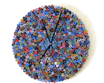 Large Wall Clock, Paper Anniversary Gift, Eco Friendly Home Decor,  Decor and Housewares,  Home and Living