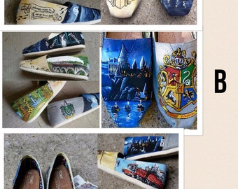 HAND PAINTED Harry Potter Toms (A,B or C)
