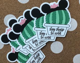 Cactus Mickey Sticker