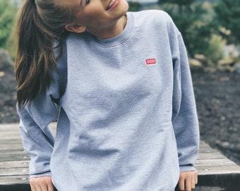 Vintage Gray Hanes Velux Crew Neck Sweatshirt / Size Medium
