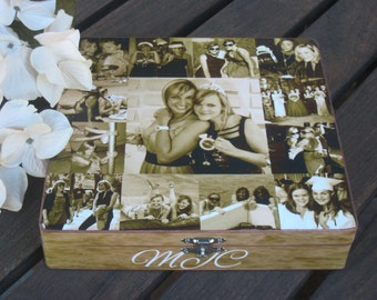 Maid of Honor Collage Keepsake Box, Sister Gift, Personalized Keepsake Box, Custom Photo Collage, Unique Birthday Gift, Best Friends Gift