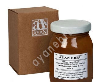 Ebru Marbling Paint Colors-Oxide Brown 190cc (Ayan)