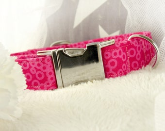 Pink Bubbles - Dog Collar