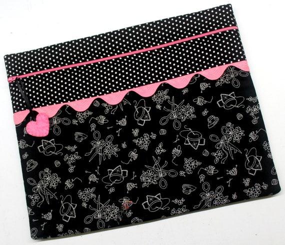 Black Stitchwork Choose Your Colors Cross Stitch Project Bag