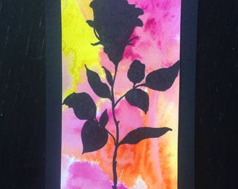 Bookmark black rose