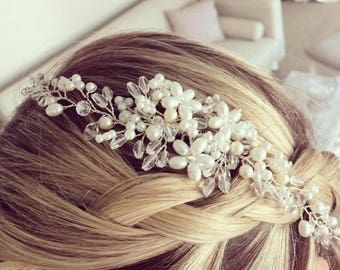 Pearl bridal headpiece, bridal hair comb, wedding hair comb, bridal accessories, pearl hair comb, bridal headpiece