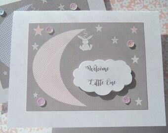 Kids birthday card cute birthday card balloon card baby welcome baby card baby shower card welcome new baby card baby girl card bookmarktalkfo Choice Image