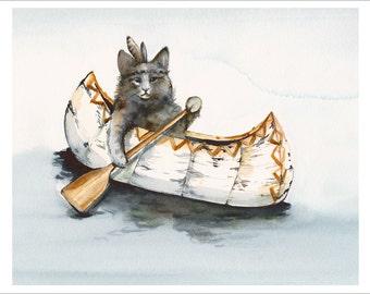 Little Brave Paddles A Lot - Large print