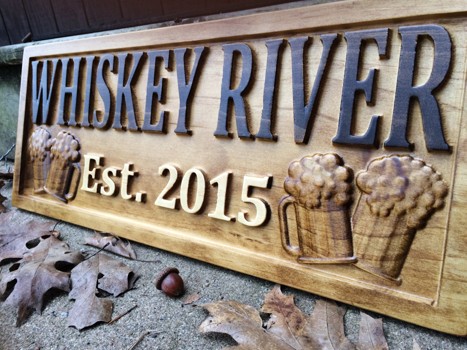 Personalized Man Cave Sign Custom Bar Signs Wood Groomsmen