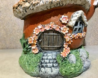 Concrete Fairy Garden House