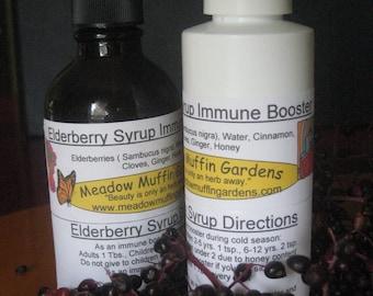 Cold and Flu Season Elderberry Syrup, Health Booster, Immunity Boost, Tea, Back to School