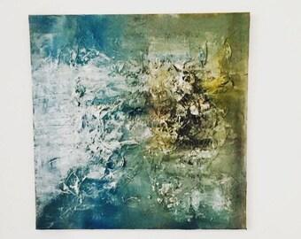 Spatula technique on canvas