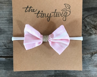 Pink Stripe Ellie Bow