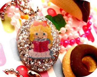 Alice Reads - Resin Sparkle Necklace
