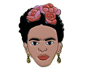 Frida Kahlo Enamel Pin – Artist Lapel Pin
