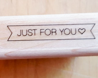 Just For You Banner Rubber Stamp retired from Stampin Up