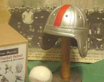 1940 Mini Ohio State Leather Football Helmet (1/3 scale)