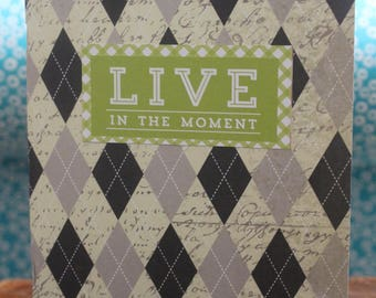 """Gratitude/Sketch/Self-Care Journal - """"Live in the Moment"""" - Notebook"""