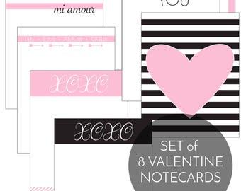 Valentine Notecards, Valentines Banner, Valentines Decor Printable, Valentines Party Decor