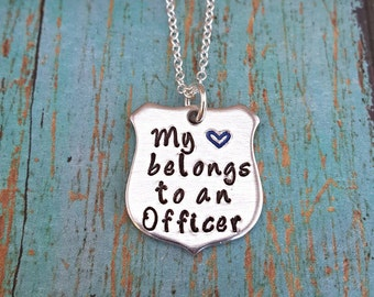 My Heart Belongs to an Officer - Correctional Officer - Corrections Officer - LEO - Police Officer -Corrections -Gift for Wife - Girlfriend