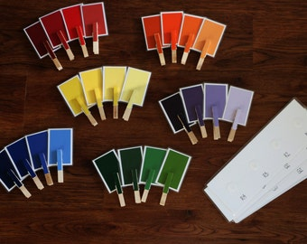 Fine motor color matching game