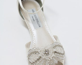 Wedding Wedge Shoes - Wedge - Wedding Shoes - Wedges- Ivory Wedding Shoes Wedge Shoes - Choose From Over 200 Color Choices - Dyeable Shoes
