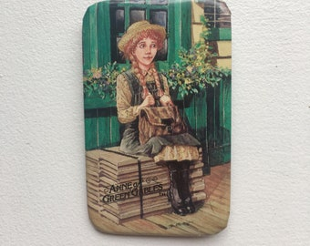 Vintage Anne of Green Gables Pin-back Button -  Lucy Maud Montgomery