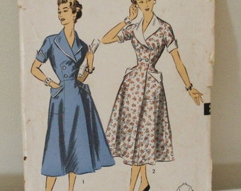 Vintage 6706 Advance Sewing Pattern Dress Size 12