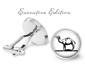 Camel Cufflinks - Desert Camel Cuff Links - Camel Wedding Cuff Links (Pair) Lifetime Guarantee (S0469)