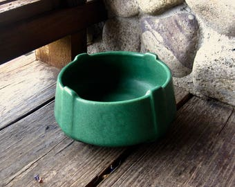 Weller Pottery Matt Green Low Bowl, Jardiniere, Arts and Crafts, Craftsman Style, Circa 1905, Cottage Chic, Bungalow Style, FREE SHIPPING