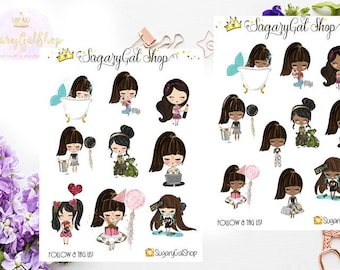 Pretty Chic Girl Lifestyle Sticker Sheet