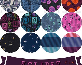 Fat quarter bundle from the Eclipse fabric collection by Cotton and Steel  - complete 12 pieces