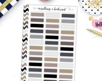 Neutral Stitched Labels | 0363 MINI BINDER