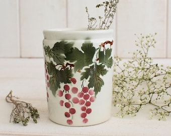 Antique French Jam pot with red currants, French jam jar, Antique French jar, Antique French confiture jar, French kitchen, French lifestyle