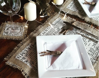 Writing paper placemat