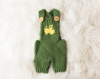 Tractor Overalls Crochet Pattern - All Sizes Newborn through 1-2 Year Toddler Included - Instant Digital Download