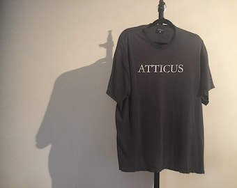 Vintage Distressed ATTICUS Tee in Black Size XL