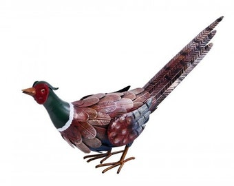 Amhurst Meadow Hand Painted Pheasant Garden Sculpture