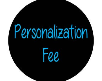 Personalization fee for rulers