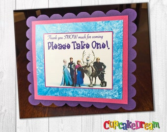 Frozen Birthday Decorations, Gift Table Sign